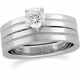 Square Shank Four-Prong Solitaire Mointing