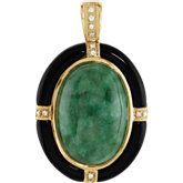Genuine Multiple Gemstone & Diamond Pendant