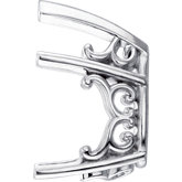 Pear 5-Prong V-End Vintage Scroll Setting® for Earring Assembly
