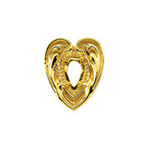 Heart Shaped 4-Prong Trim for Pear Center Stone