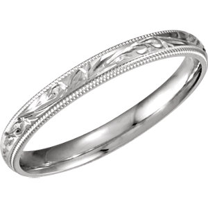 3mm Hand-Engraved Band