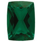Antique Cushion Chatham Created Emerald