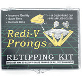 Redi-V Prongs® 14K Marquise Retipping Kit