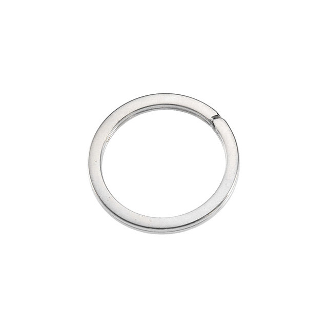Sterling Silver 28.30mm Round Split Key Ring