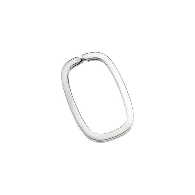 Sterling Silver 33.85X21.10mm Rectangle Spilt Key Ring