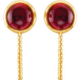 Genuine Rhodolite Garnet Semi-mount Earrings