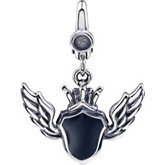 Enamel Shield & Wing Charm
