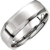 Beveled Edge Carved Band 7mm