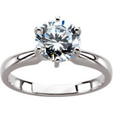 6-Prong Solitaire Ring
