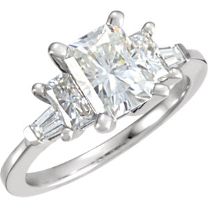 Created Moissanite & Diamond Engagement Ring