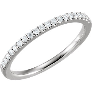 14kt White 1/5 ATW Diamond Band