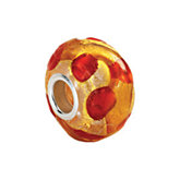 Kera® Gold & Orange Murano Glass Bead