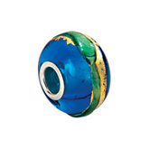 Kera® Gold & Aqua Murano Glass Bead