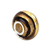Kera® Gold & Brown Murano Glass Bead