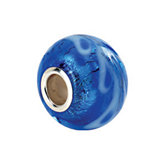 Kera® Silver & Blue Murano Glass Bead