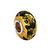 Kera® Gold, Green & Blue Murano Glass Bead