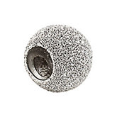 8mm Kera™ Sterling Silver Stardust Finish Smart Bead
