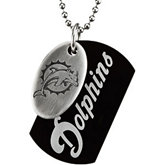 Miami Dolphins Double Dog Tag w/chain