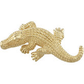 Alligator Brooch (Electroform)