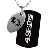 San Francisco 49ers Double Dog Tag w/chain