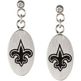 New Orleans Saints Logo Dangle Earrings
