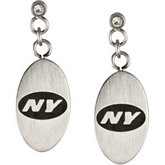 New York Jets Logo Dangle Earrings