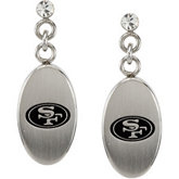 San Francisco 49ers Logo Dangle Earrings
