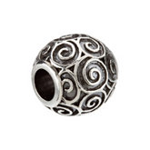 Kera™ Round Scroll Bead