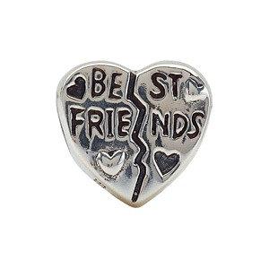 Sterling Silver 11mm Best Friend Heart Bead