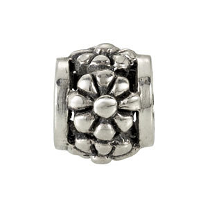 Sterling Silver 10mm Daisy Bead