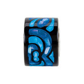 Kera® Sky Blue Inlaid Mosaic Mother of Pearl Bead
