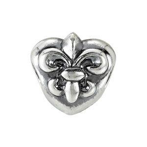 Sterling Silver 10mm Fleur-de-Lis Bead