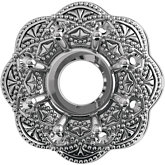 Round Filigree Halo-Style Trim