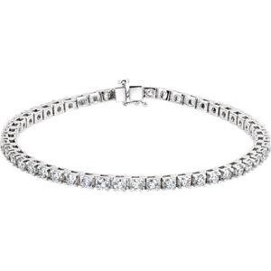 "Platinum 4 1/2 CTW Diamond Line 7.25"" Bracelet"