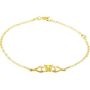 10K Yellow November Birthstone Bracelet