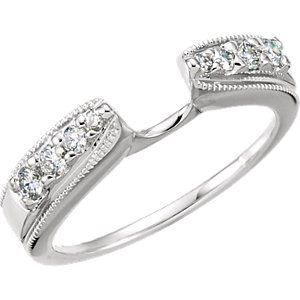 14K White 1/4 CTW Diamond Enhancer