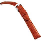 18mm Ladies Long Genuine Lizard EZ-Change Orange Watch Strap