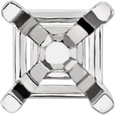 Asscher 4-Prong Peg Setting