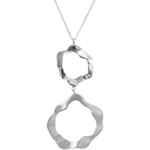 Double Fancy Circle Necklace