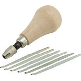 6pc Round Milgrain Tool Set w/Handle