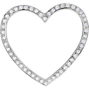 Cubic Zirconia Heart Pendant