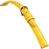 14mm Ladies Short Alligator Grain Padded Yellow Watch Strap