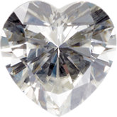 Heart Lab Created Moissanite