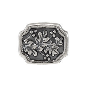 Sterling Silver 11.7x9.6mm Holly Bead