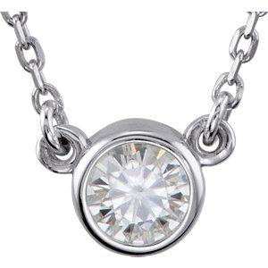 Sterling Silver Forever<br> Alassic™ Moissanite<br> Bezel 1