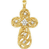 1/6 ct tw Diamond Cross Pendant