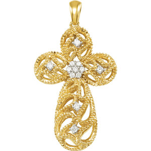 1/6 CTW Diamond Cross Pendant