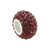 Kera™  Garnet-Colored Crystal Pave' Bead