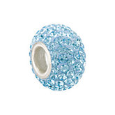 Kera® Aquamarine-Colored Crystal Pave' Bead