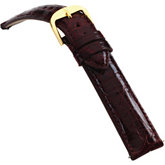 18mm Ladies Regular EZ-Change Padded Genuine Crocodile Bordeaux Watch Strap